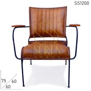 SS1200 Suren Space Old Pattern Pure Leather Art Rest Chair