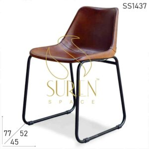 SS1437 Suren Space Leather Metal Chairs