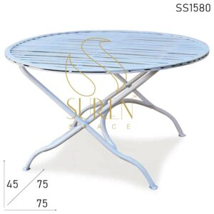 SS1580 Suren Space Solid Metal Folding Bistro Outdoor Coffee Table
