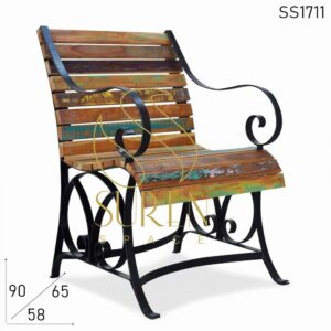 SS1711 Suren Space Reclaimed Old Wood Resort Rest Chair