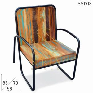 SS1713 Suren Space Recycled Distress Finish Outdoor Rest Chair