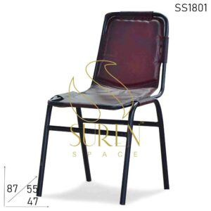 SS1801 Leather Industrial Stackable Chair