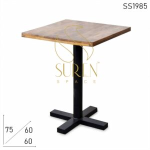 SS1985 Suren Space Light Weight Industrial Bistro Cafe Folding Table