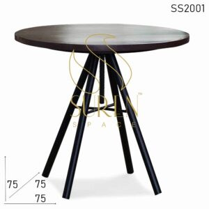 SS2001 Suren Space Height Adjustable Light Weight Round Cafe Bistro Table