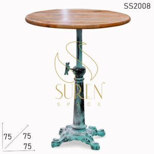 SS2008 Suren Space Height Adjustable Cast Iron Distress Finish Coffee Cum Bistro Table