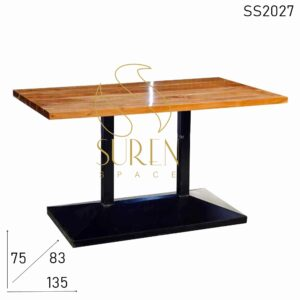 SS2027 Suren Space Dual Metal Base Heavy Weight Commercial Use Dining Table