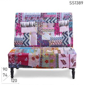 SS1389 Patch Work Rajasthani Style Two Seater Sofa