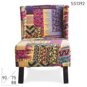 SS1392 Indian Traditional Fabric Resort Room Area Chair
