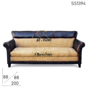 SS1394 Suren Space Roll Arm Classic Looking Lounge Brewery Sofa Design