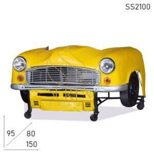 SS2100 Suren Space Old Indian Car Design Unique Study Table Cum Reception Counter