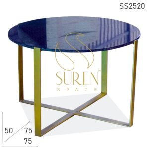 SS2520 Suren Space Metal Finish Granite Top Modern Coffee Center Table