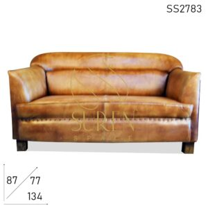 SS2783 Suren Space Pure Full Leather Two Seater Sofa Design
