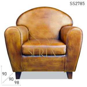 SS2785 Suren Space Round Back Round Arm Pure Leather Vintage Single Seater