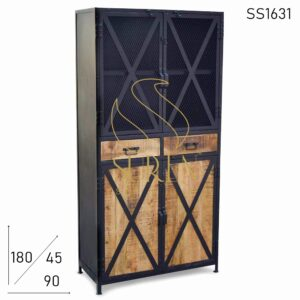 SS1631 Suren Space Natural Finish Wood Commercial Manufactured Industrial Wardrobe