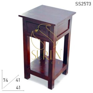 SS2573 Suren Space Solid Indian Wood Modern Design Hotel Side Table